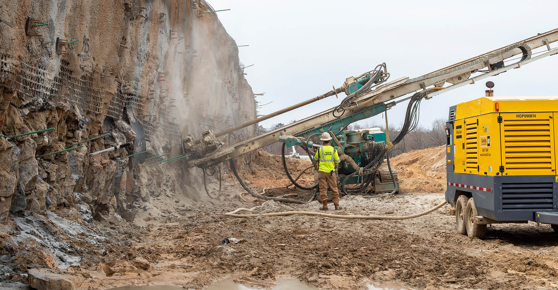 UMA Scales up Production on Unusually Large Soil Nail Wall Featured Image