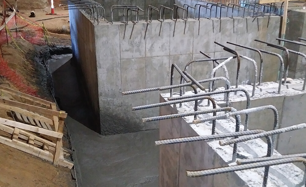 terra crete fill and soil nails for structural support