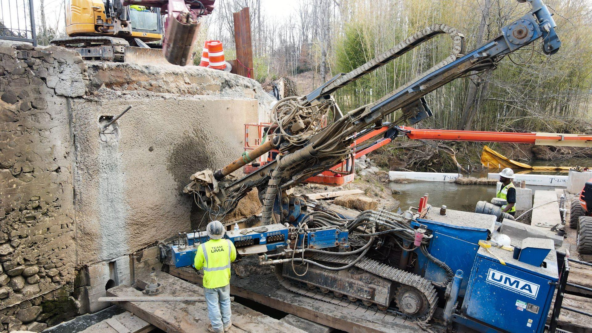 UMA Preserves Vital Retaining Wall Structures for N.C. Bridge Demolition Featured Image